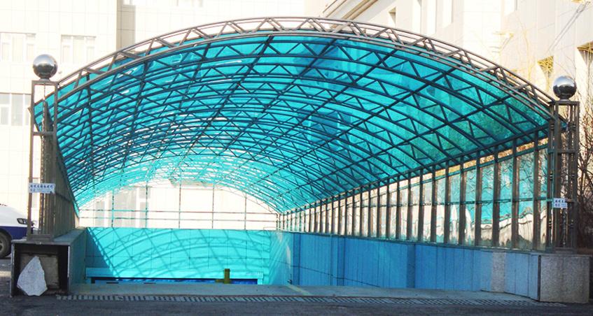 北京PC耐力板地下车库入口车棚