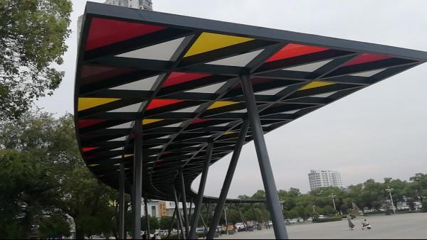 欣海出品—凤凰湖广场标志性遮阳棚